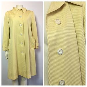Vintage Yellow Rain Trench Coat Main Street